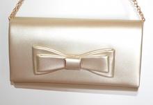 POCHETTE ORO dorata donna borsello borsa elegante clutch bag da sera cerimonia G22