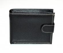 PORTAFOGLIO NERO VERA PELLE uomo portamonete bifold wallet regalo portfölj G1