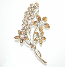 SPILLA ARGENTO donna fiore strass cristalli fermaglio scialle cardigan sposa CC2