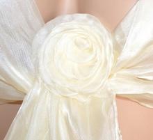 STOLA AVORIO coprispalle donna foulard seta scialle elegante cerimonia F750
