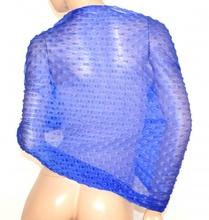 STOLA BLU foulard donna maxi coprispalle velata scialle elegante cerimonia A20