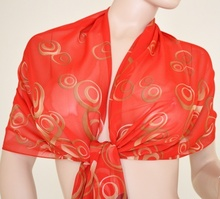 Stola Coprispalle donna elegante per abito da sera\cerimonia rosso con cerchi