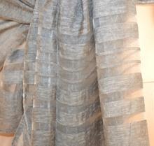 STOLA GRIGIO scialle 50% seta maxi foulard donna coprispalle elegante cerimonia A26