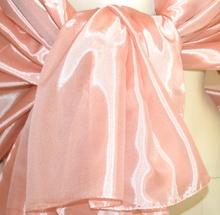 STOLA MAXI donna ROSA coprispalle 60% SETA foulard scialle elegante cerimonia abito da sera A52