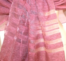 STOLA ROSA AMARANTO scialle 50% seta maxi foulard donna coprispalle elegante cerimonia A26