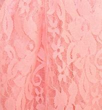 STOLA ROSA donna coprispalle DAMIGELLA elegante foulard seta ricamato pizzo da cerimonia E40