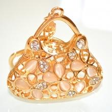Ciondolo donna portachiavi borsetta borsa strass idea regalo natale cerimonia bomboniera 5