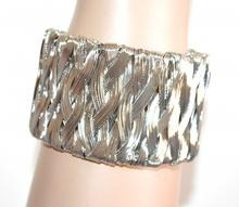 BRACCIALE donna argento rigido ragazza a schiava intrecciato bracelet pulsera A100