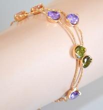BRACCIALE donna ORO CRISTALLI dorato elegante bracelet браслет pulsera 430A