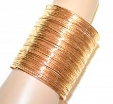 BRACCIALE ORO rigido donna ragazza a schiava multi fili sexy gold bracelet BB12