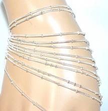 CAVIGLIERA argento platino donna COPPIA 2 PEZZI ragazza idea regalo anklet F10