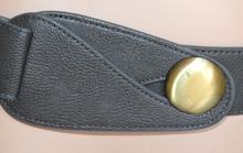 CINTURA donna GRIGIO pelle elegante ecopelle bottoni oro ремень cinturón belt 230