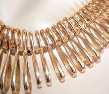 COLLANA GIROCOLLO donna oro dorata semi rigida elegante collarino cerimonia collier A84