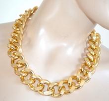 COLLANA ORO donna girocollo catena anelli dorata collier sexy collier colar F125