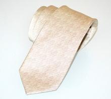 CRAVATTA 100% SETA beige sabbia uomo tinta unita fatta mano classica A19