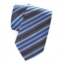 CRAVATTA uomo classica AZZURRA da cerimonia a righe ELEGANTE raso Tie Cravate Lazo Laço 20