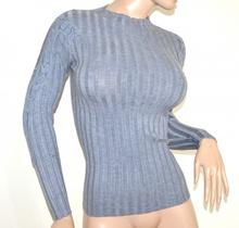 MAGLIETTA GRIGIO donna maglione manica lunga maglia ricamata sottogiacca A23