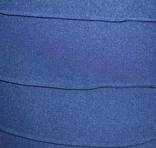 MINI ABITO BLU donna vestito tubino microfibra estivo miniabito sexy fili schiena nuda aderente 54