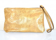 MINI BORSELLO ORO donna borsellino pochette tracolla a mano clutch bag E179