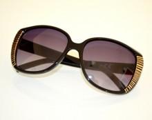 OCCHIALI da SOLE donna NERI ORO dorati lenti ovali темные очки sunglasses BB22