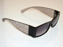 OCCHIALI da SOLE NERI donna aste trasparenti grigio oro dorato lenti mascherina sunglasses BB54