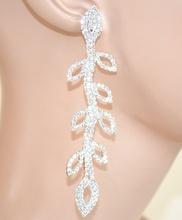 ORECCHINI ARGENTO cristalli PENDENTI donna STRASS eleganti sposa cerimonia E95