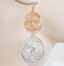 ORECCHINI donna argento oro dorati cerchi pendenti filigrana eleganti regalo E25