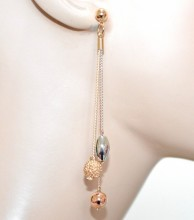 ORECCHINI pendenti ciondoli donna argento oro rosa dorati multi fili pietre GP18