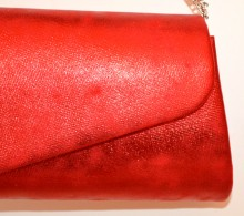 POCHETTE ROSSA borsello donna borsa borsetta clutch bag sfumature di colore G65