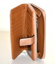 PORTAFOGLIO BRONZO donna borsello doppio pochette ecopelle portamonete borsa G25