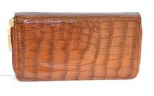 PORTAFOGLIO donna VERNICE MARRONE borsello pelle lucida borsellino cocco clutch 1065