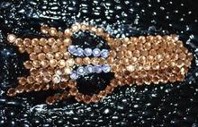 PORTAFOGLIO NERO ORO donna borsello pochette strass portamonete da borsa F130