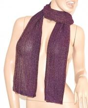 SCIARPA donna BRILLANTINATA VIOLA foulard pashmina scialle scarf écharpe шарф 5