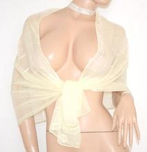 STOLA BEIGE coprispalle donna foulard tinta unita damigella per abito da sera\cerimonia 90