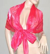 STOLA MAXI FOULARD CERIMONIA donna coprispalle FUCSIA metallizzato ELEGANTE abito\vestito da sera F5