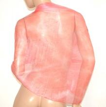 STOLA ROSA  donna maxi foulard scialle velato elegante coprispalle damigella brillantini A2