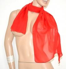 STOLA ROSSA coprispalle foulard donna SETA velata elegante da cerimonia 15X