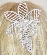 ACCONCIATURA SPOSA ARGENTO per capelli strass cristalli pettinino matrimonio Z1