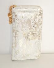 d819f71162 Borsello donna pochette BIANCA ORO da sera ELEGANTE portafoglio dorato  clutch bag 1330. prev