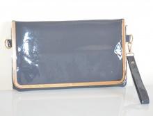 BORSELLO GRIGIO borsetta vernice donna pelle pvc oro borsa pochette da sera H1