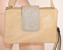 BORSELLO mini borsa pelle donna borsetta ecopelle BEIGE TAUPE clutch pochette сумка 800B