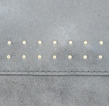 BORSELLO NERO donna borsa chiodini eco pelle pochette borsetta ragazza sac H48