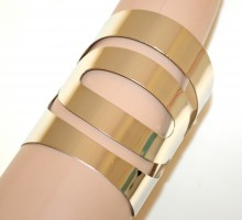 BRACCIALE ARGENTO donna rigido a schiava metallo lucido polsiera silver bracelet G68