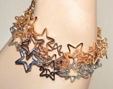 BRACCIALE donna ciondoli stelle oro rosa argento elegante bracelet pulsera GP30
