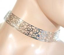 COLLANA collarino girocollo ARGENTO donna ragazza rigido stelle sexy idea regalo F99