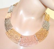 COLLANA girocollo argento oro rosa dorato donna collarino semirigido collier G64