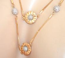 COLLANA LUNGA ORO donna ciondoli girasoli dorati argento filo laccio girocollo catena N53