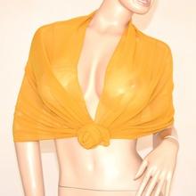 Coprispalle foulard seta oro dorato ambra trasparente elegante stola da cerimonia tinta unita x abito 105L