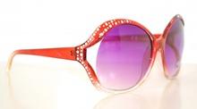 OCCHIALI da SOLE donna FUCSIA VIOLA eleganti MACULATI LEOPARDATI sexy STRASS brillantini lenti da cerimonia lunettes gafas sol 90