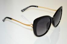 OCCHIALI da SOLE donna NERE ORO aste dorate strass темные очки sunglasses BB24